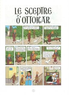 Extrait de Tintin (Historique) -8C4- Le sceptre d'Ottokar