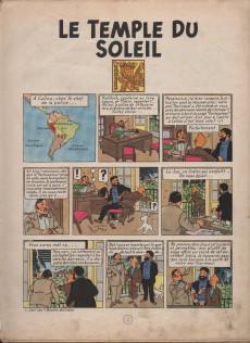 Extrait de Tintin (Historique) -14B13- Le temple du soleil