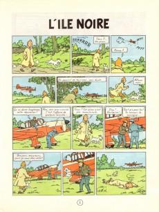 Extrait de Tintin (Historique) -7C4- L'île noire