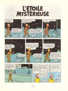Extrait de Tintin (Historique) -10C4- L'étoile mystérieuse