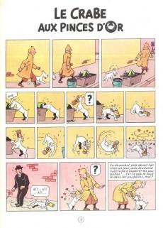 Extrait de Tintin (Historique) -9C2- Le crabe aux pinces d'or
