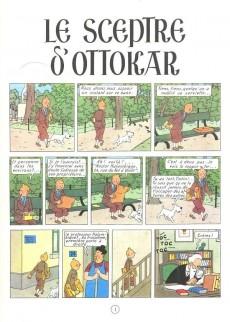 Extrait de Tintin (Historique) -8C5- Le sceptre d'Ottokar