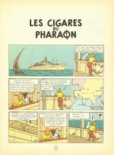 Extrait de Tintin (Historique) -4B36- Les cigares du pharaon