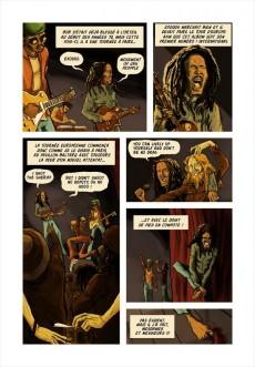 Extrait de Bob Marley en bandes dessinées