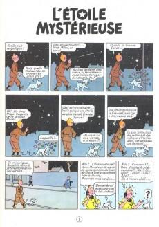 Extrait de Tintin (Historique) -10C6- L'étoile mystérieuse