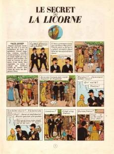 Extrait de Tintin (Historique) -11B36- Le Secret de la Licorne