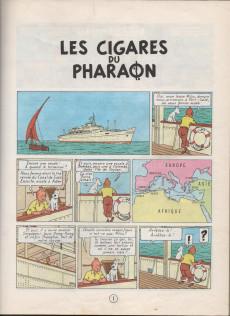 Extrait de Tintin (Historique) -4B42- Les cigares du pharaon