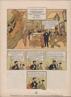 Extrait de Tintin (Historique) -12B31- Le trésor de Rackham Le Rouge