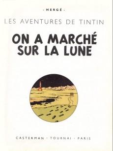 Extrait de Tintin (Historique) -17B24- On a marché sur la lune
