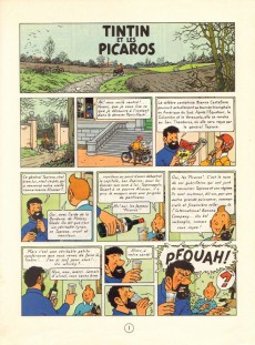 Extrait de Tintin (Historique) -23C6bis- Tintin et les Picaros