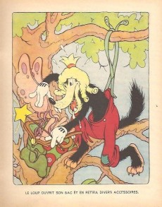 Extrait de Walt Disney (Hachette) Silly Symphonies -2- Le Grand Méchant Loup et le Petit Chaperon rouge