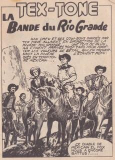Extrait de Tex-Tone -44- La bande du Rio Grande