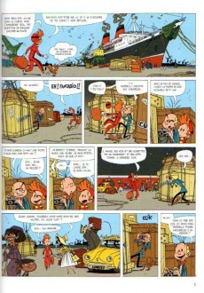 Extrait de Spirou et Fantasio (Une aventure de.../Le Spirou de...) -6a- Panique en Atlantique