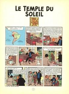 Extrait de Tintin (Historique) -14C8- Le temple du soleil