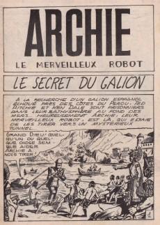 Extrait de Archie (Jeunesse et Vacances) -50- Le secret du galion