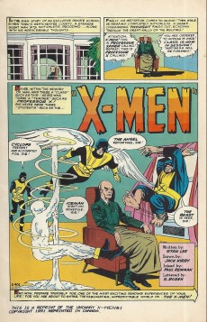 Extrait de Uncanny X-Men (The) (Marvel comics - 1963) -1MIL- X-men
