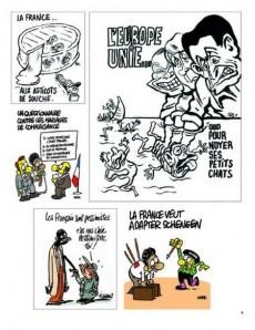 Extrait de Charlie Hebdo - Une année de dessins -2011- Bon débarras !