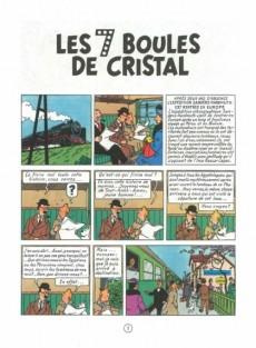 Extrait de Tintin (Historique) -13C4bis- Les 7 boules de cristal