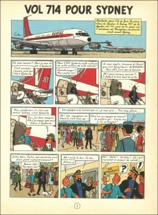Extrait de Tintin (Historique) -22C4- Vol 714 pour Sydney