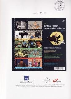 Extrait de Tintin - Divers -53TL- Tintin à l'écran - 10 timbres pour le 7e art