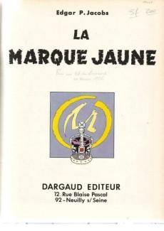 Extrait de Blake et Mortimer (Historique) -5d70- La Marque Jaune