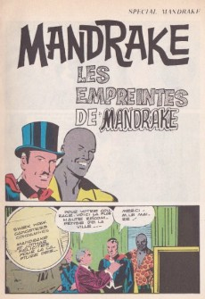 Extrait de Mandrake (4e Série - Remparts) (Spécial - 2) -12- Les empreintes de Mandrake