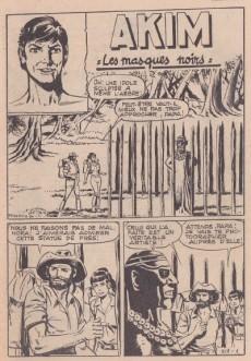 Extrait de Akim (1re série) -517- Les masques noirs