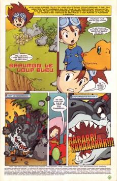 Extrait de Digimon (en comics) -3- Garurumon, le loup bleu