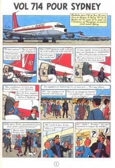 Extrait de Tintin (Historique) -22C6b- Vol 714 pour Sydney