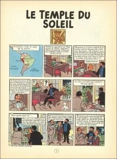 Extrait de Tintin (Historique) -14B38- Le temple du soleil