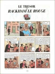 Extrait de Tintin (Historique) -12B38- Le trésor de Rackham Le Rouge