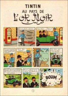 Extrait de Tintin (Historique) -15C1- Tintin au pays de l'or Noir