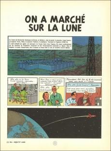 Extrait de Tintin (Historique) -17B33- On a marché sur la lune