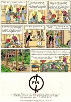 Extrait de Tintin (Historique) -4C5- Les cigares du pharaon