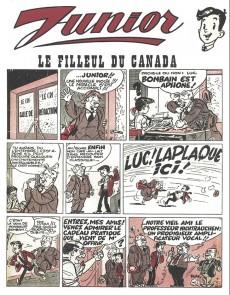 Extrait de Junior (Les Nouvelles Aventures de) -1- Le filleul du Canada et l'onde ondulante