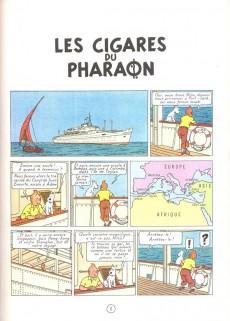 Extrait de Tintin (Historique) -4C6Bis- Les cigares du pharaon