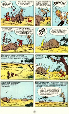 Extrait de Spirou et Fantasio -6c1993- La corne de rhinocéros