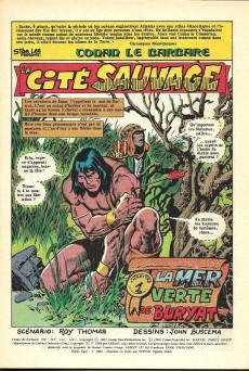 Extrait de Conan le barbare (2e série - Arédit - Arédit Marvel Color) -1- La cité sauvage