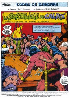 Extrait de Conan le barbare (2e série - Arédit - Arédit Marvel Color) -3- Le sortilège de Caldix