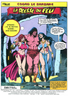 Extrait de Conan le barbare (2e série - Arédit - Arédit Marvel Color) -6- La déesse du feu