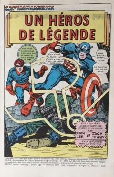 Extrait de Captain America (1re série - Aredit - Artima Color Marvel Super Star) -1- Un héros de légende