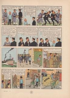 Extrait de Tintin (Historique) -15B07bis- Au pays de l'or noir