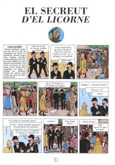 Extrait de Tintin (en langues régionales) -11Borain- El Secreut d'el Licorne