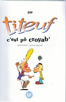 Extrait de Titeuf (bibliothèque rose pop!) -2- C'est pô croyab'