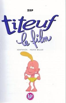 Extrait de Titeuf (bibliothèque rose pop!) -15- Le film