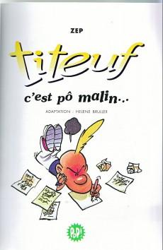 Extrait de Titeuf (bibliothèque rose pop!) -4- C'est pô malin...
