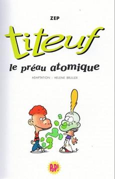 Extrait de Titeuf (bibliothèque rose pop!) -8- Le préau atomique