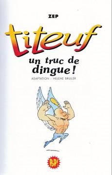 Extrait de Titeuf (bibliothèque rose pop!) -14- Un truc de dingue !