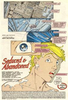 Extrait de New Mutants (The) (1983) -53- Seduced & Abandoned