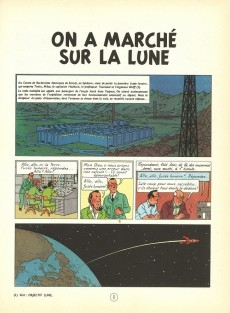 Extrait de Tintin (Historique) -17B37- On a marché sur la lune